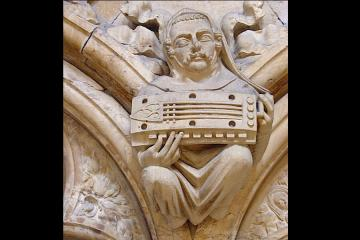 Symphonia player, Beverley Minster © DR